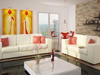 Białe meble pokojowe. Biała sofa w aranżacji nowoczesnego salonu