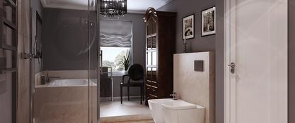 Łazienka w domu jednorodzinnym w Strzegomiu