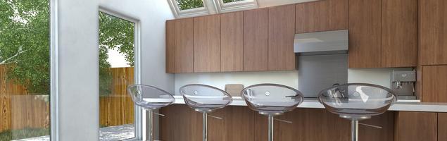 Drewniana kuchnia - styl minimalistyczny