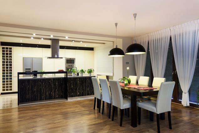 Zobacz galerię zdjęć Nowoczesna kuchnia z jadalnią w   -> Kuchnia Jadalnia Nowoczesna