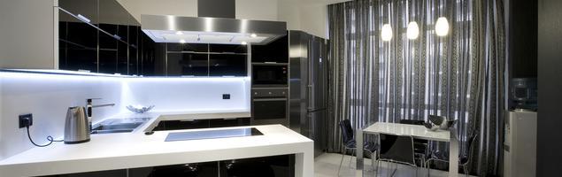 Kuchnia na wysoki połysk - nowoczesny wystrój wnętrza