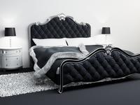 Sypialnia retro - styl glamour