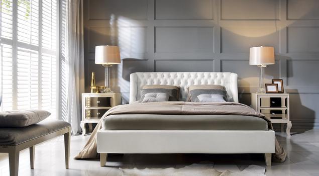 Sypialnia w stylu glamour - wnętrze diwy