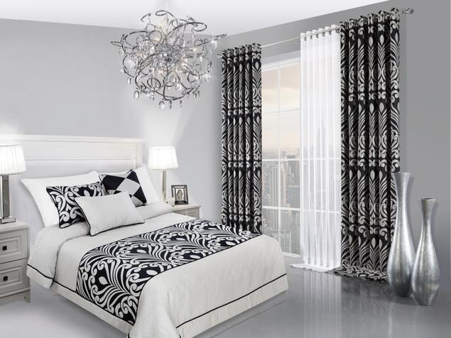 Czarno-biała sypialnia – kontrastowa aranżacja sypialni