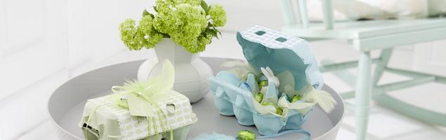 Wiosenne dekoracje wielkanocne z wytłoczek do jajek